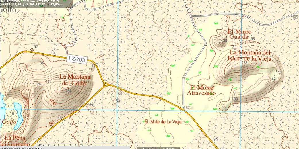 mapa Islote la Vieja